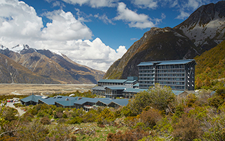Oceania New Zealand Mount Cook Hermitage Hotel exterior view - luxury vacation destinations