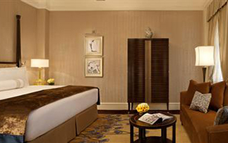 Asia China Huangpu Fairmont Peace Shanghai hotel stylish guest room in landmark building - luxury vacation destinations