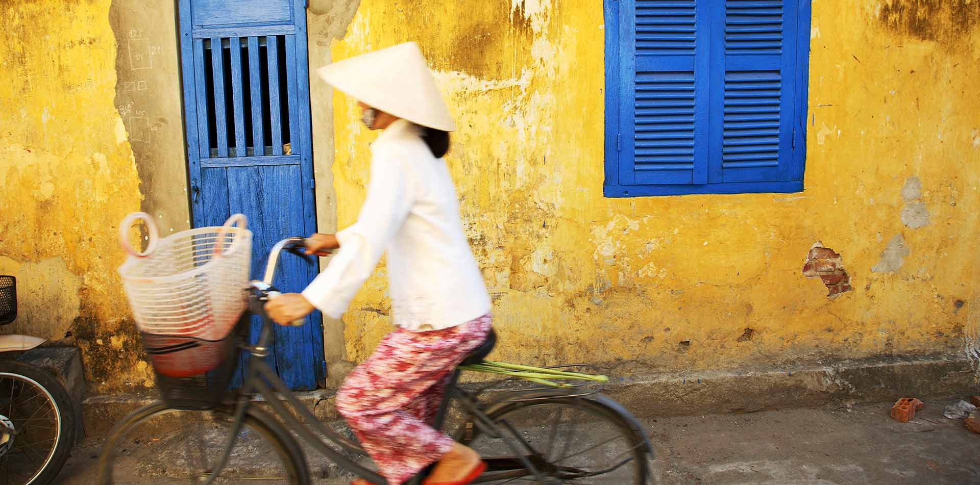 Woman on a Bicycle, Vietnam