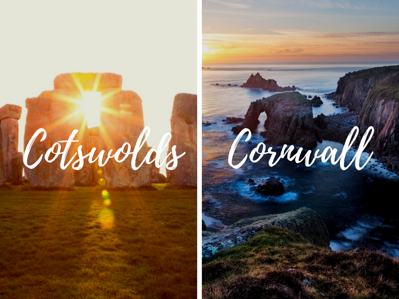 Stonehenge and Lands End, CORNWALL + COTSWOLDS