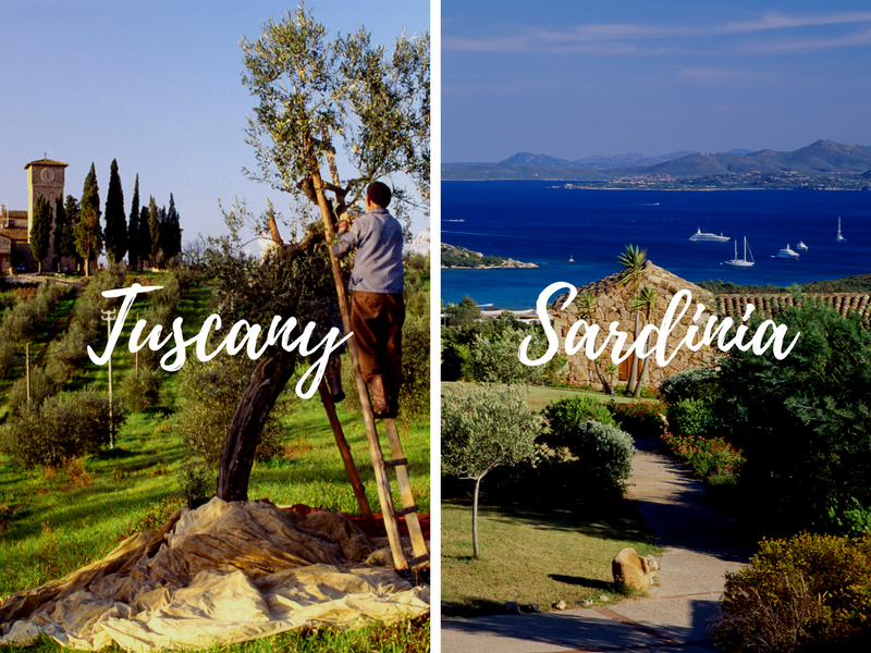 Europe Italy Tuscany & the Cinque Terre Sardinia & Corsica combination tours back to back - luxury vacation destinations
