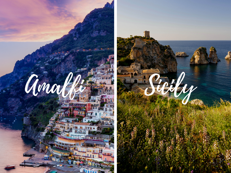 Europe Italy Amalfi Coast & Capri Sicily pairing combination tours back to back - luxury vacation destinations