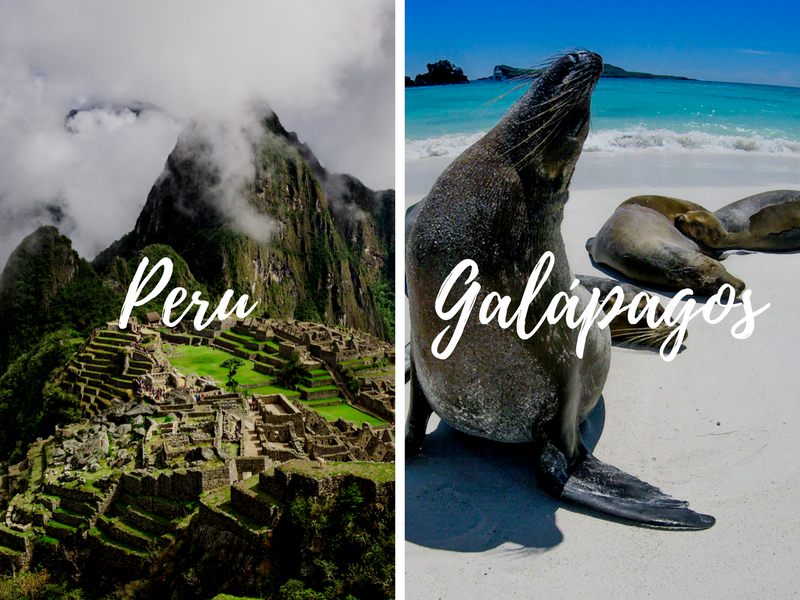 South America Peru Galapagos Islands pairing combination tours back to back - luxury vacation destinations