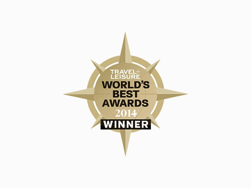 Travel + Leisure World's Best Awards 2014 winner tour operator logo star - luxury vacation destinations