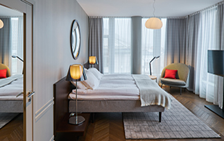 Europe Norway Bergen Bors Hotel deluxe guest bedroom - luxury vacation destinations