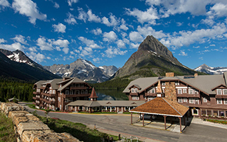 North America United States Montana Glacier National Park Many Glacier Hotel exterior mountain - luxury vacation destinations