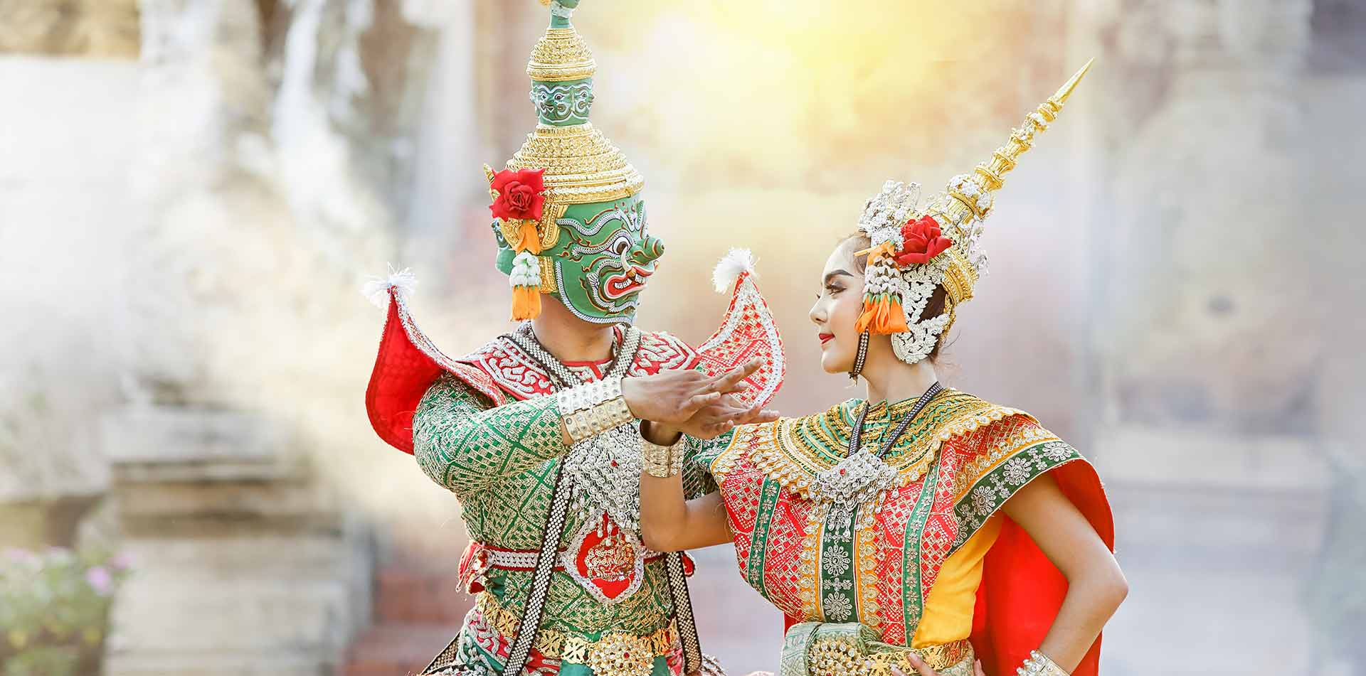 Thai people dressed in cultural outfits, Thailand