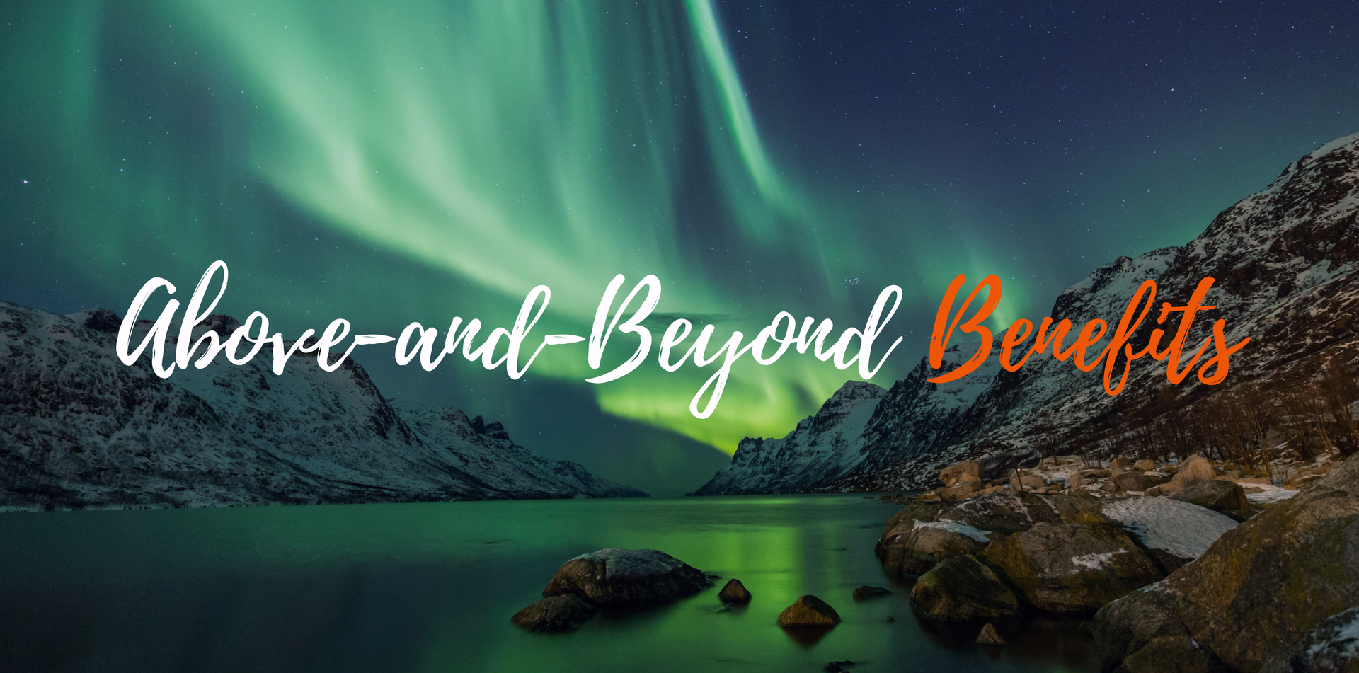 Europe Iceland Northern Lights Aurora Borealis over water mountains above and beyond benefits - luxury vacation destinations