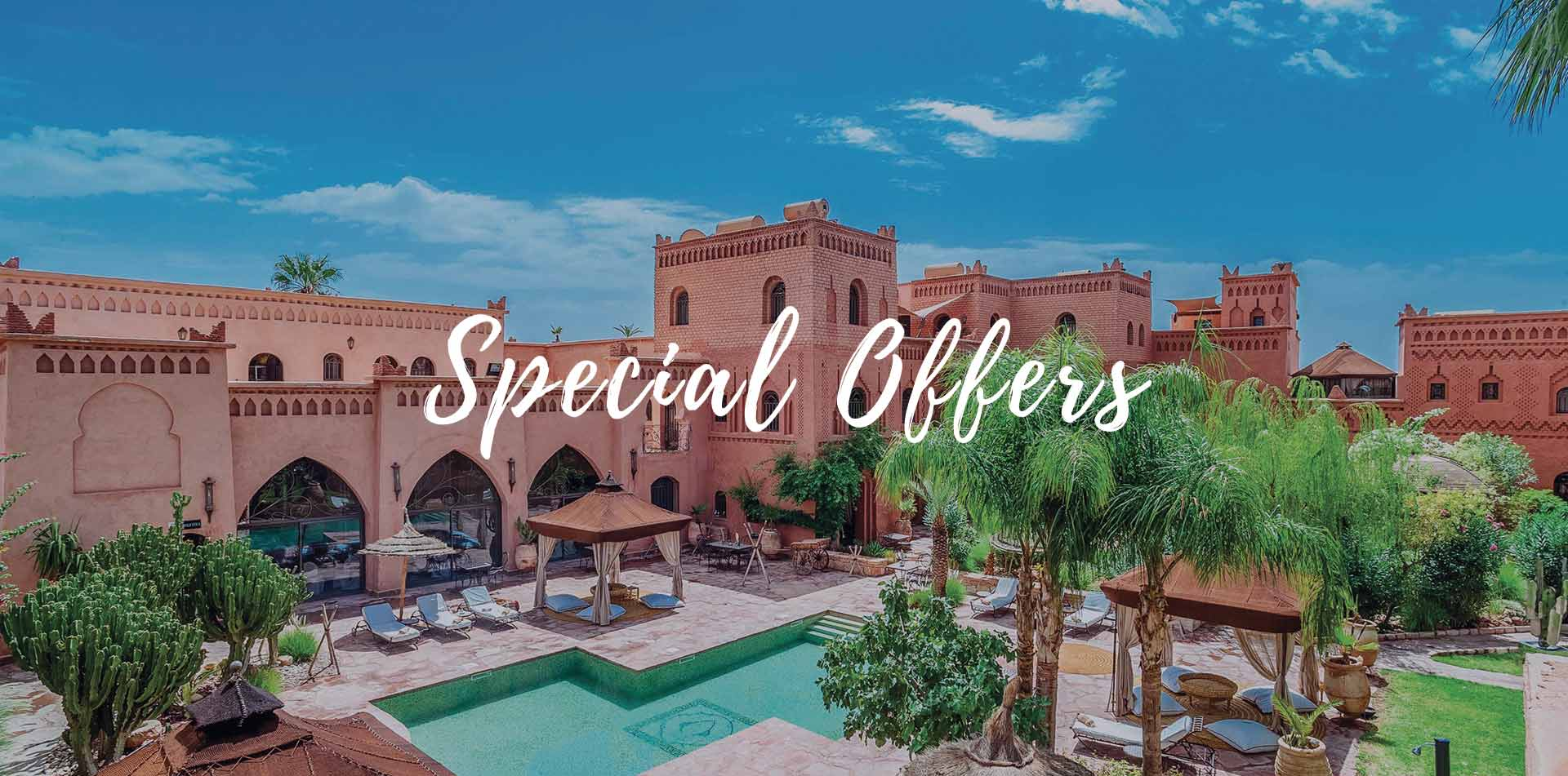 Africa Morocco Riad Ksar Ighnda hotel courtyard with outdoor pool Special Offers - luxury vacation destinations