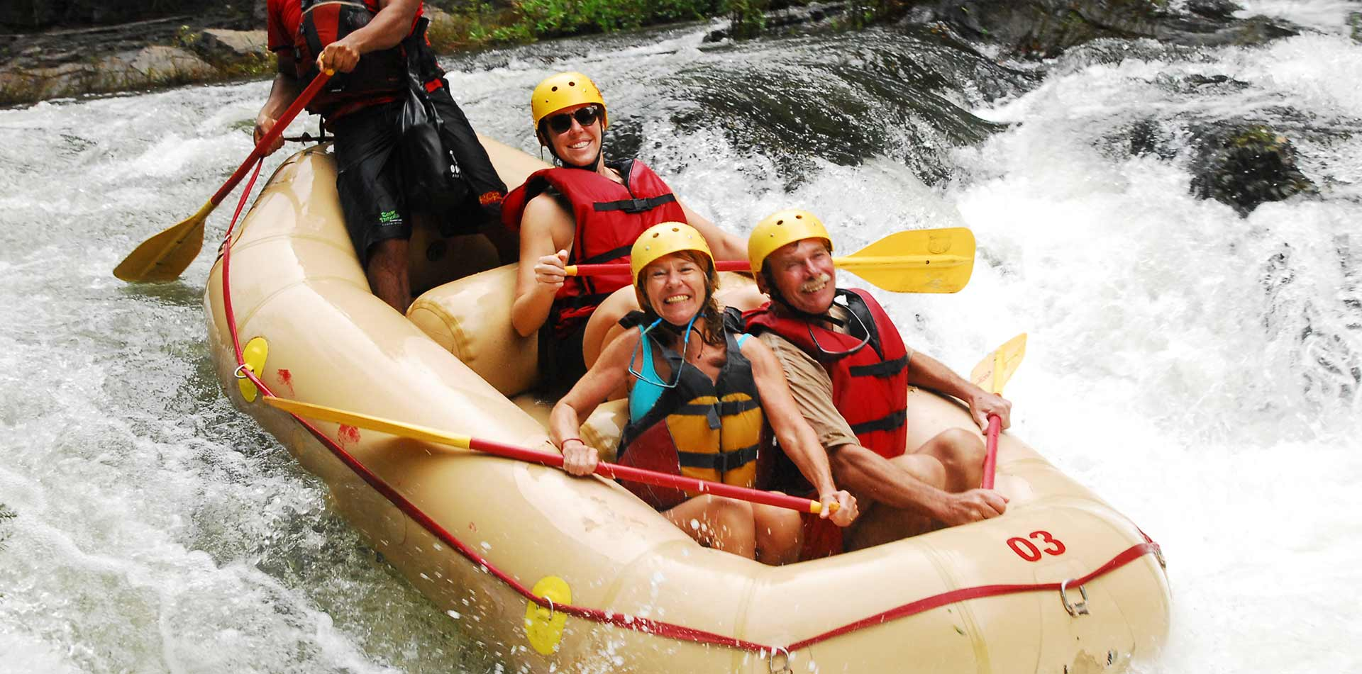 Costa Rica White Water Rafting Waterfall Adventure Explore Tour Travel Jungle - luxury vacation destinations