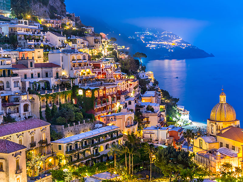 Amalfi Coast at Night, Italy