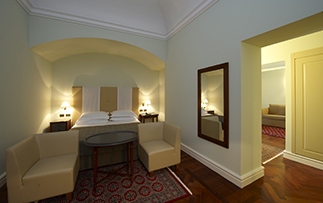 Europe Italy Sicily Palermo Grand Hotel Piazza Borsa spacious bedroom - luxury vacation destinations